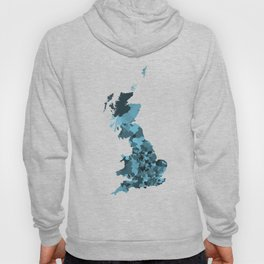 Great Britain Map Print Abstract in Camouflage Marine - A great talking piece for the home! Hoody