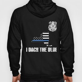 New York Police Appreciation Thin Blue Line I Back The Blue Hoody