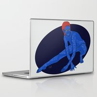 xmen Laptop & iPad Skins featuring Mystique - Xmen by HappyQiwi