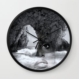 against the sea Wall Clock