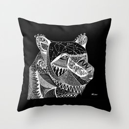 Cosmic Spirit Bear Throw Pillow