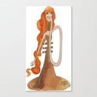 trumpet Canvas Prints featuring Trumpet by Forjadora d'hores