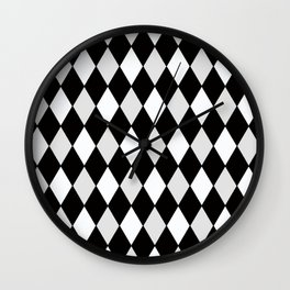 Harlequin Black and White and Gray Wall Clock
