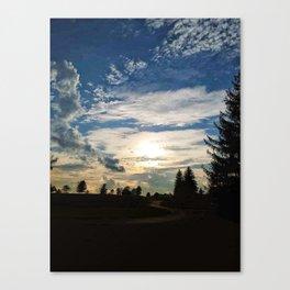Sunset Path Canvas Print