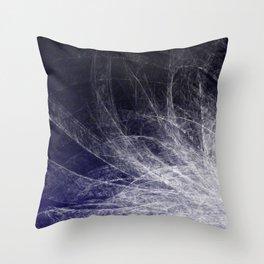 Cyan Texture Feathers Throw Pillow