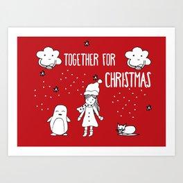 Together for Christmas Art Print