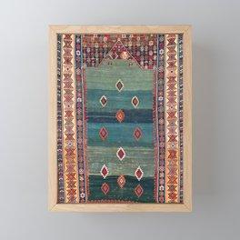 Sivas Antique Turkish Niche Kilim Print Framed Mini Art Print