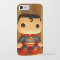 man of steel iPhone & iPod Cases featuring Man of Steel by annaXsalt