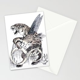 Wheat Tiger Chimera Stationery Cards