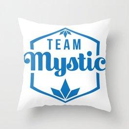 Team Mystic alt. emblem Throw Pillow