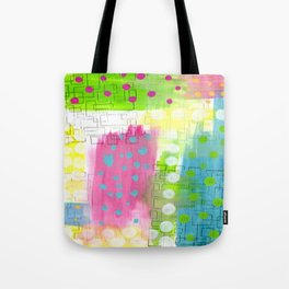 Polk-A-Dotted Background Tote Bag