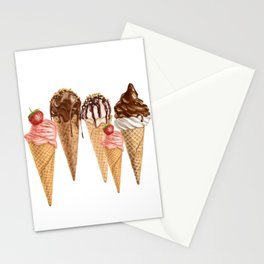 Ice Cream You Scream Stationery Cards