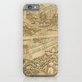 Panoramic Map of 13 Ming Emperors (1736) iPhone Case