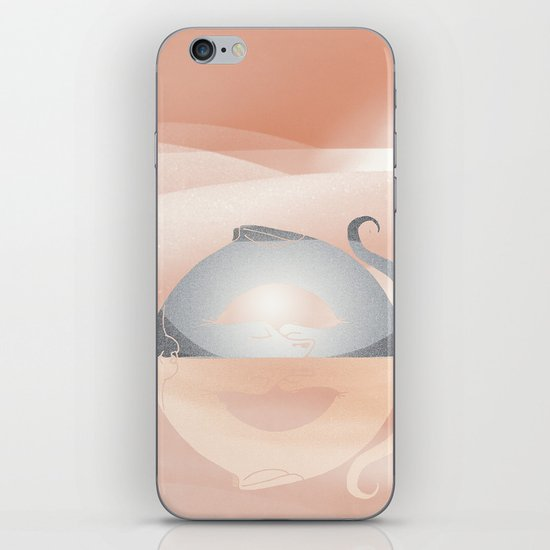 little dragon in his dream illustration  iPhone & iPod Skin