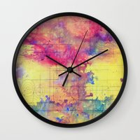 maps Wall Clocks featuring maps by Emily Tumen