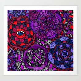 Spooky Flowers Art Print