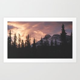 Sunrise over Banff Art Print