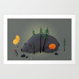 Blueberry Bear Art Print