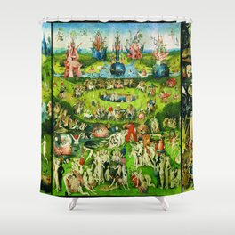 The Garden of Earthly Delights Triptych by Hieronymus Bosch Shower Curtain