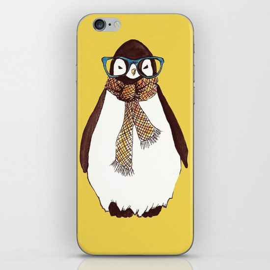 """Hipster Penguin"" iPhone & iPod Skin"