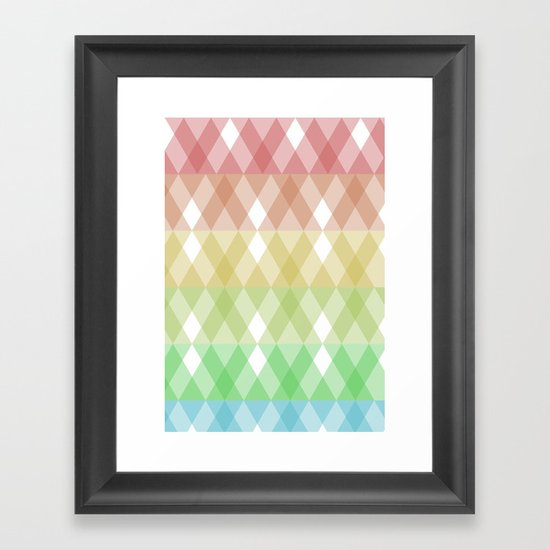 Tringles Gradient Framed Art Print