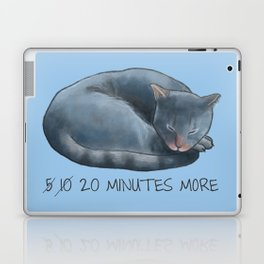 Sleepy Cat - 20 minutes more - Lazy Animals Laptop & iPad Skin