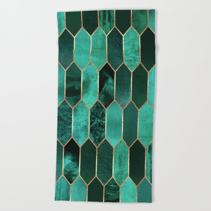 Stained Glass 2 Beach Towel