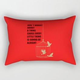 Three Little Birds Rectangular Pillow