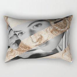 Leonardo Da Vinci's Head of Leda & Ingrid Bergman Rectangular Pillow