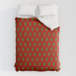 Hops Red Pattern Comforters
