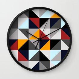 Colored Geometries Wall Clock