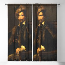 Anthony van Dyck - Portrait of a Man in a Fur Wrap Blackout Curtain