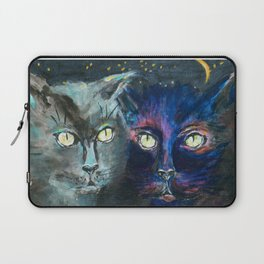 They Meet in the Night (Cats) Laptop Sleeve
