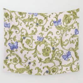 Butterfly Leaf Baroque Floral Wall Tapestry