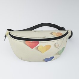 Paper Hearts Fanny Pack