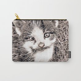Rustic Style - Kitten Carry-All Pouch