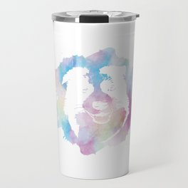 Vintage Border Collie Lover Retro Dog Breed Silhouette Gift Travel Mug