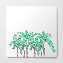 Tropical Palm Trees Metal Print