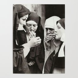 Nuns Smoking Poster