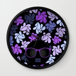 Afro Diva Purple Wall Clock