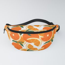 Orange Harvest - White Fanny Pack