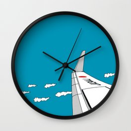 Airplane Wing Wall Clock