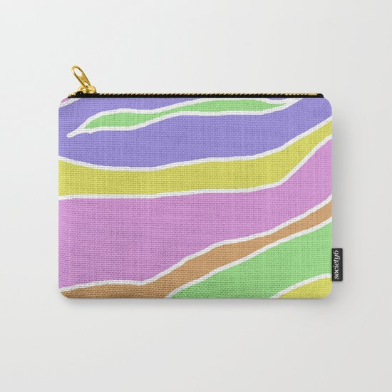 Pastel Current - Pink, blue, yellow and green pastel abstract painting Carry-All Pouch