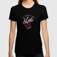 Hustle Sold Separate Black Womens Fitted Tee SMALL