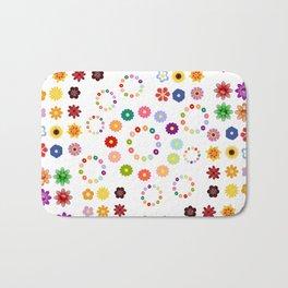 Many Flowers Bath Mat