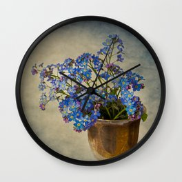 Forget-me-not flowers Wall Clock