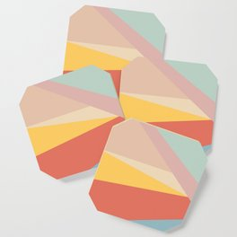 Retro Abstract Geometric Coaster