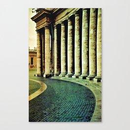 Columnata de San Pedro - Vaticano Canvas Print