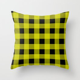 Very Blue Gingham Throw Pillow