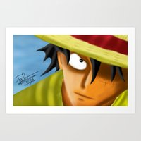 one piece Art Prints featuring one piece by ItsFahmi